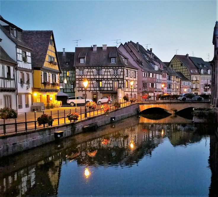 Colmar reflecting its prettyness, Alsace, France.