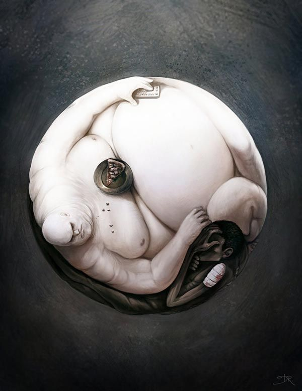Yin Yang of World Hunger – Digital Painting by Deevad