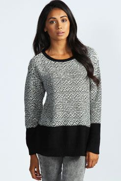Amy Reverse knit Jumper at boohoo.com
