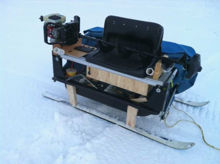 Ice fishing sled plans google search fishing for Ice fishing sleds
