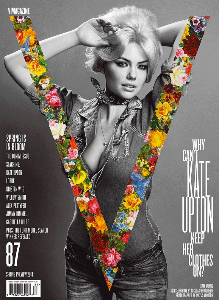 The best #magazine covers of 2014: #KateUpton in gif-form on the cover of V