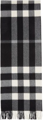 Shop Now - >  https://api.shopstyle.com/action/apiVisitRetailer?id=649232154&pid=uid6996-25233114-59 Burberry Black Large Classic Cashmere Check Scarf  ...