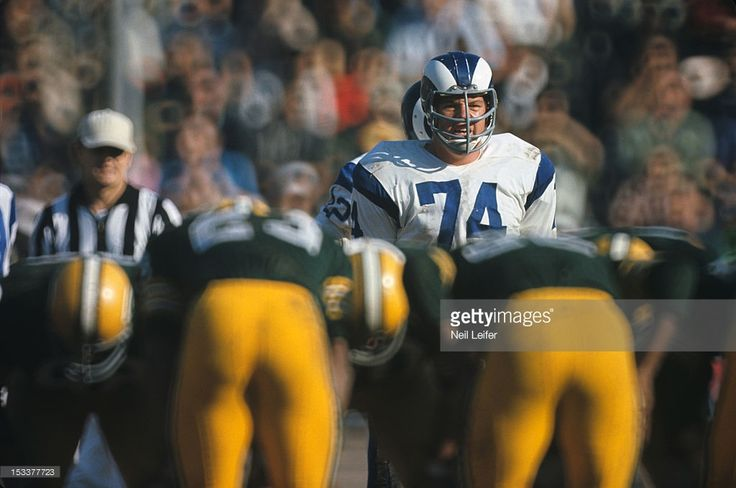 asics gel resort 2 womens Los Angeles Rams Merlin Olsen  74  before snap during game vs Green Bay Packers at Los Angeles Memorial Coliseum  Neil Leifer X12891