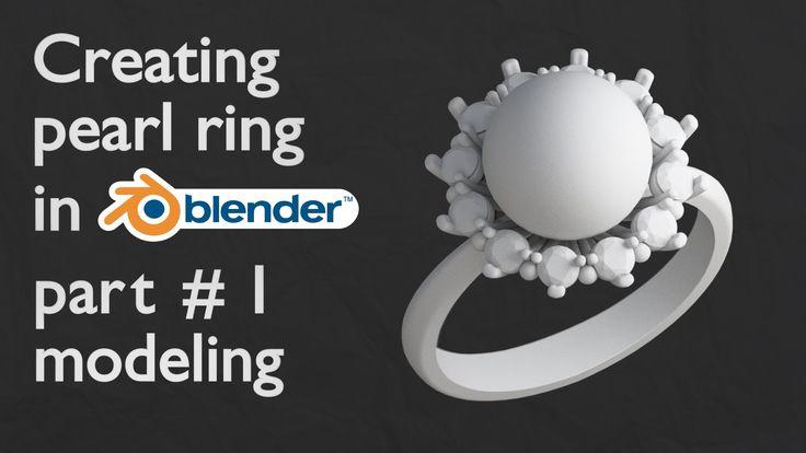 Creating pearl ring in blender-modeling.
