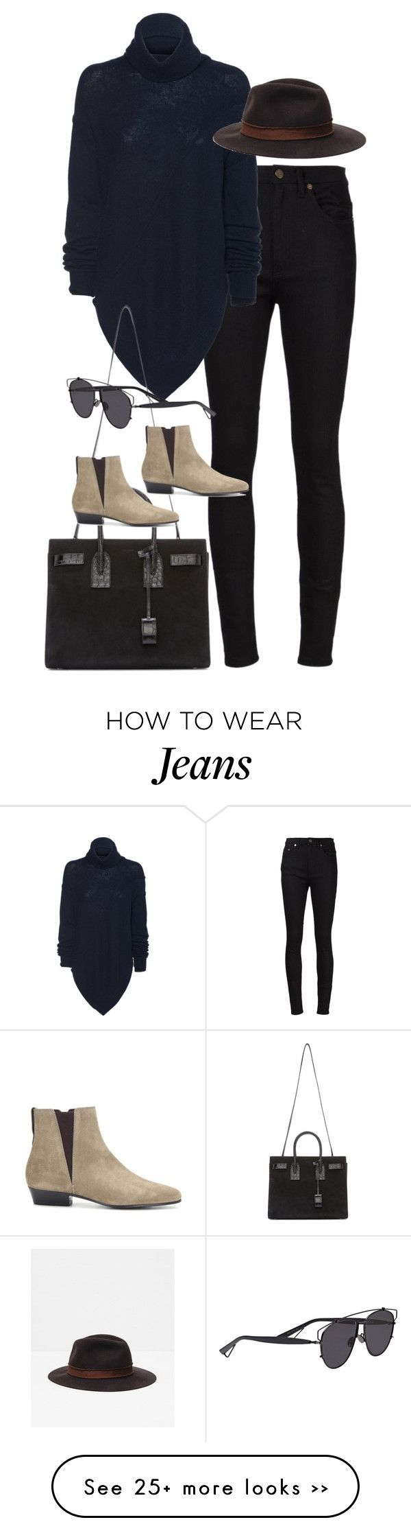 """""""Inspired outfit with a Zara hat"""" by pagesbyhayley on Polyvore featuring Yves Saint Laurent, Zara, Isabel Marant and Christian Dior"""