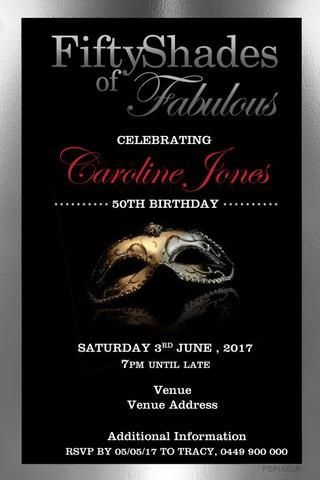 50th Birthday Party Invitation Digital Printable Template