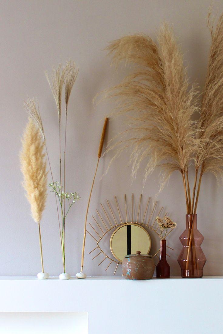 Diy Droogbloemen En Klei Als Natuurlijke Styling In Huis Decoratie Interieurtips Diys