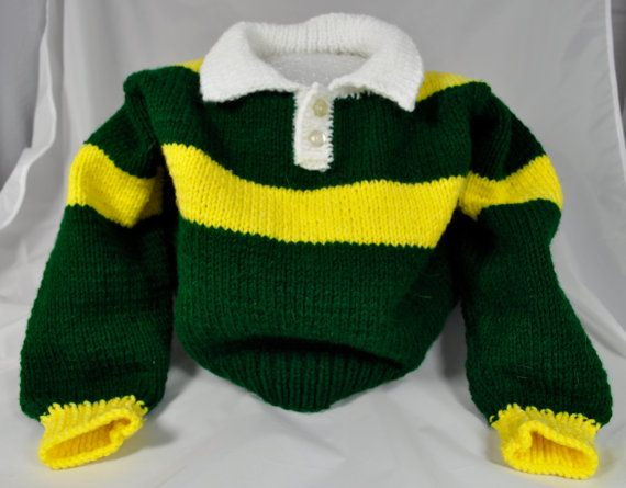 Green and yellow sweater for toddler Li'l Pack by DBossStudio ...