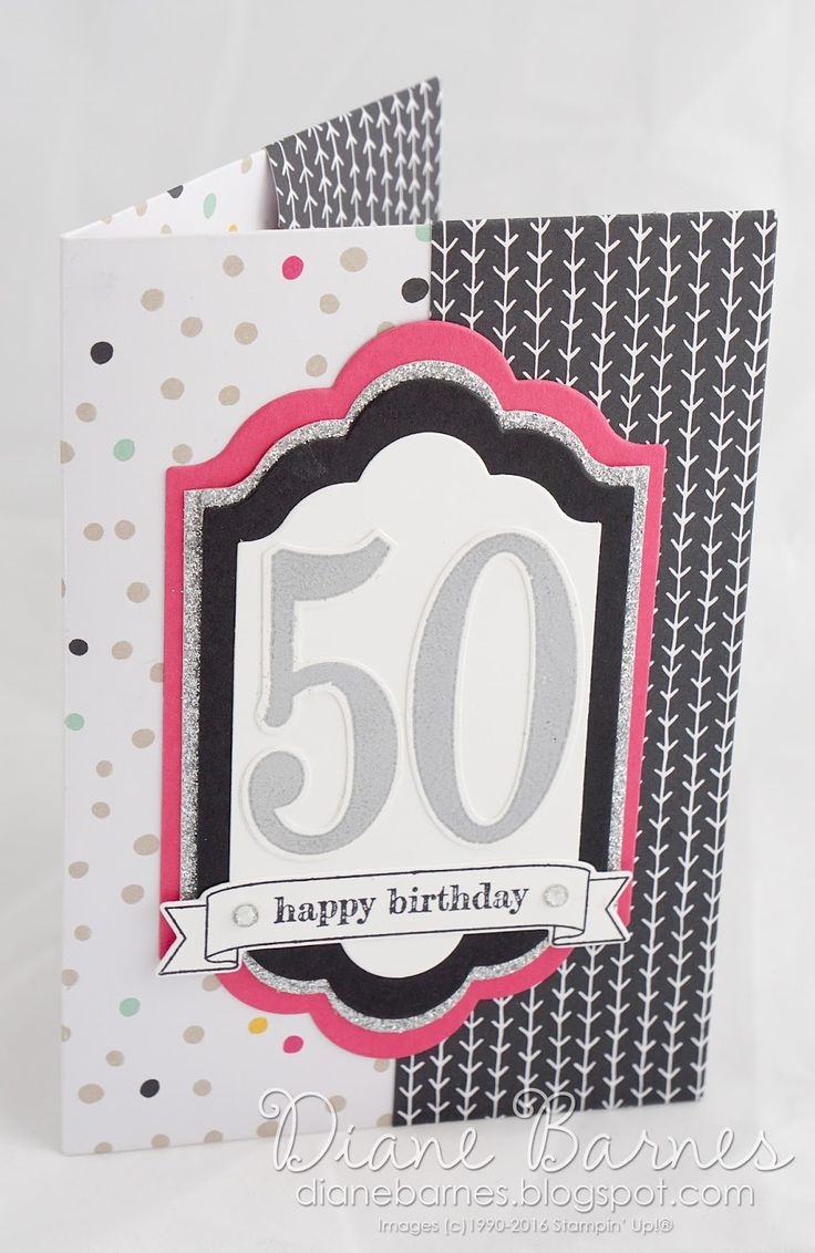 handmade birthday card / no cut origami patterned paper gift folder using Stampin Up Number of Years stamps, Large Numbers dies & Lots of Labels dies. Tuturial pdf link on post.  By Di Barnes #colourmehappy