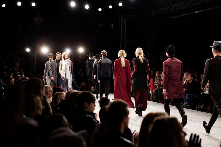Ending the show.  Behind the Scenes of Fashion show AW 2012