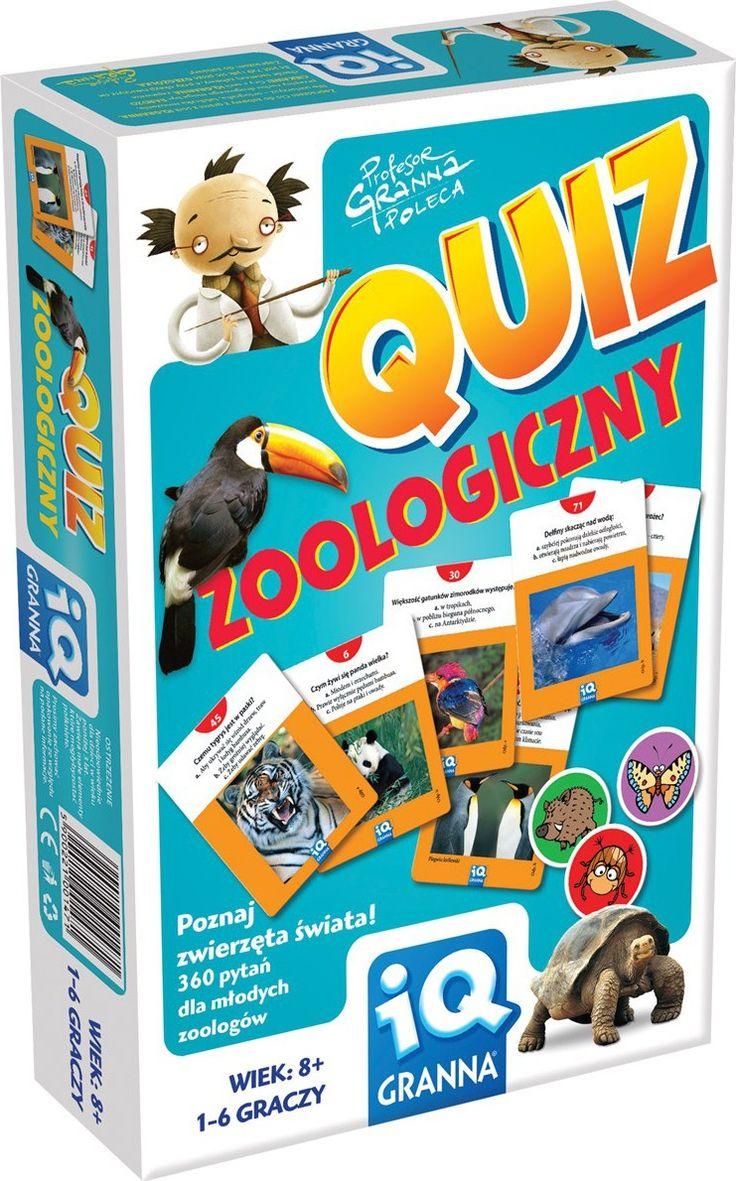 IQ Granna: Quiz - Zoologiczny 35+9zł, 1-6 osób od 8 r. ż., Granna