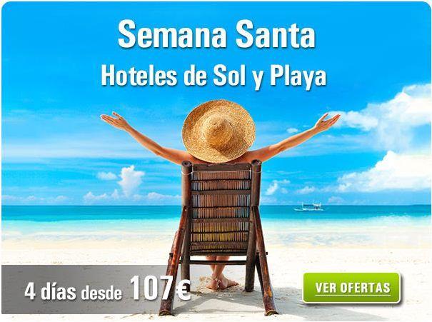 En Semana Santa disfruta de la playa y el sol. 4 días desde 107€ http://www.rumbo.es/hoteles/promo/ultima-hora/ofertas-hoteles-playa/?utm_source=pinterest&utm_medium=social&utm_campaign=SEMANASANTA_18032014_SEO_IMG&utm_content=post_hotel