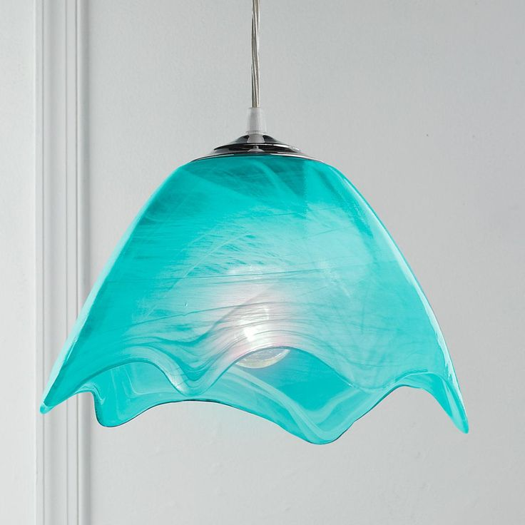 Wavy Glass Pendant Light Available in 5 Colors: Aqua ...