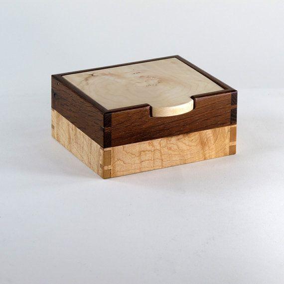 English Oak Maple and Walnut Keepsake Box by JMCraftworks on Etsy