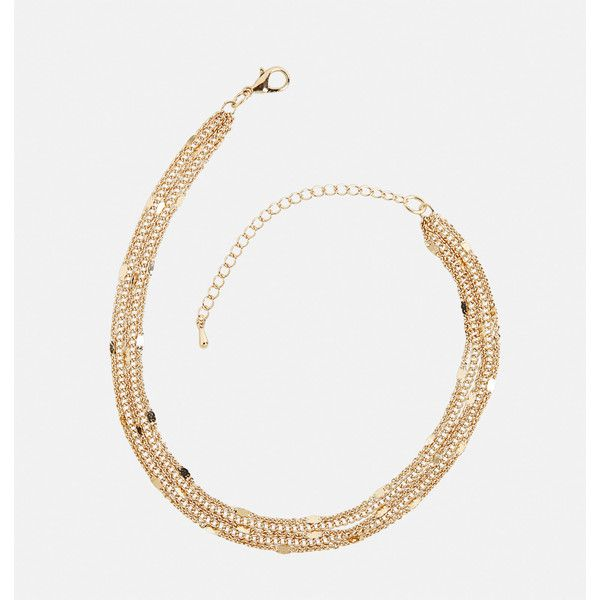 Avenue Layered Flat Link Ankle Bracelet ($12) ❤ liked on Polyvore featuring jewelry, bracelets, gold, plus size, yellow gold jewelry, avenue jewelry, fake jewelry, artificial jewellery and imitation jewelry