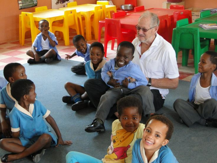 Lance joining in the with the children at Bazamile School in their new refurb classroom. As you can see the kids were having lots of fun and putting a great smile on Lance's face