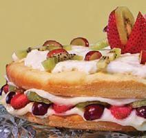 Recette santé de Gâteau salade de fruits et vanille **Nouveau**   Minçavi