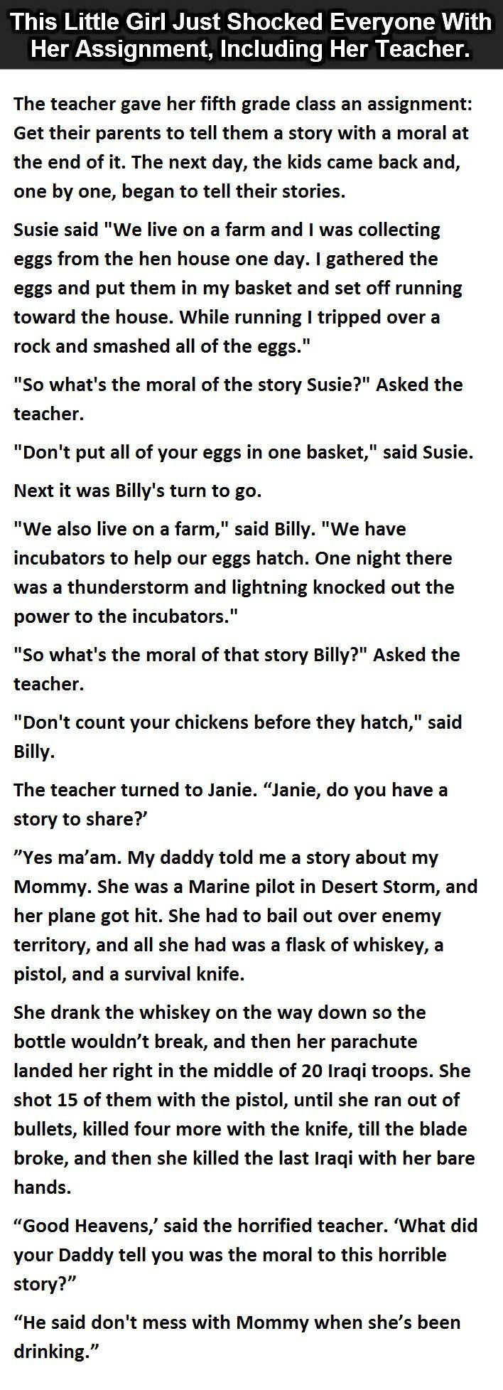 The Best Assignment Ever. This Little Girl Is Going Places.  #LOL #Funny #Hilarious