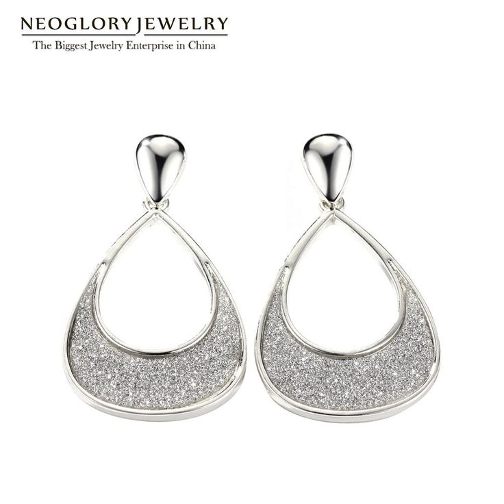 Neoglory Fashion Water Drop Earrings For Wedding Party Women Jewlery Wholesale Glitter Inlayed Luxury Engagement Gift 2017 FA