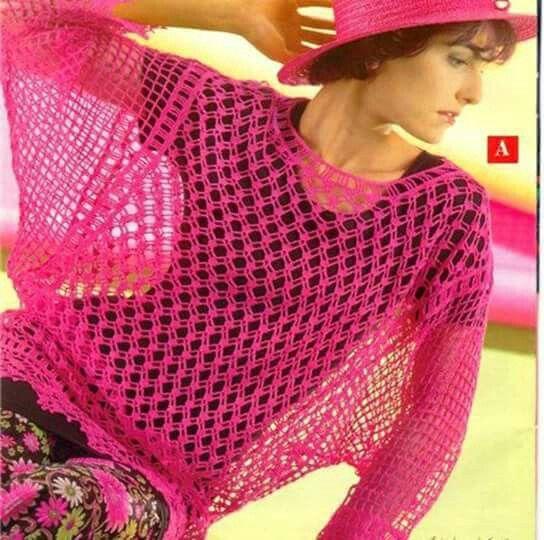 449 besten crochet Poncho and blouse pattern Bilder auf Pinterest ...