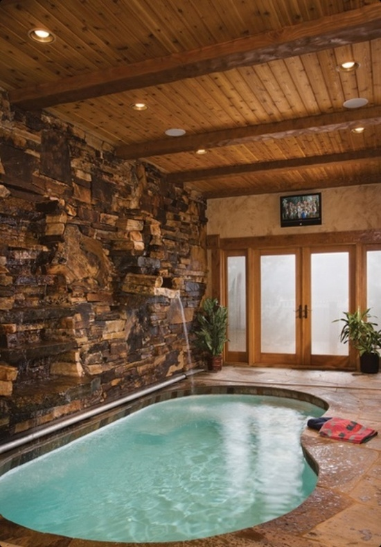 23 best indoor pools images on pinterest indoor pools for Timber frame sunroom addition