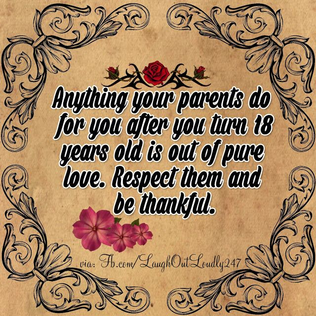 Respect Your Parents And Be Thankful Respect Your Parents Respect Parents Quotes Respect Parents