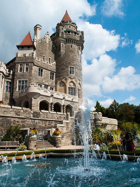 Casa Loma, Toronto, Ontario, Canada is a Gothic Revival style house and gardens in midtown Toronto, Ontario, Canada, that is now a museum and landmark.  by BrianBSorensen