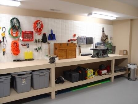 Awesome Smart And Helpful DIY Garage Workbench Plans Idea In Simple Design