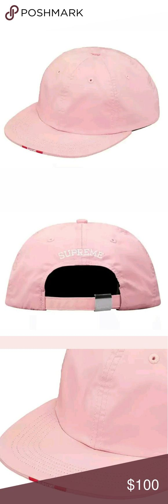 Supreme Nylon Visor Label 6 Panel Pink F/W17 Excellent gift for a loved one or yourself.  Sold out at the Supreme store and online.  Fall Winter 2017 collection 100% Authentic Supreme Accessories Hats