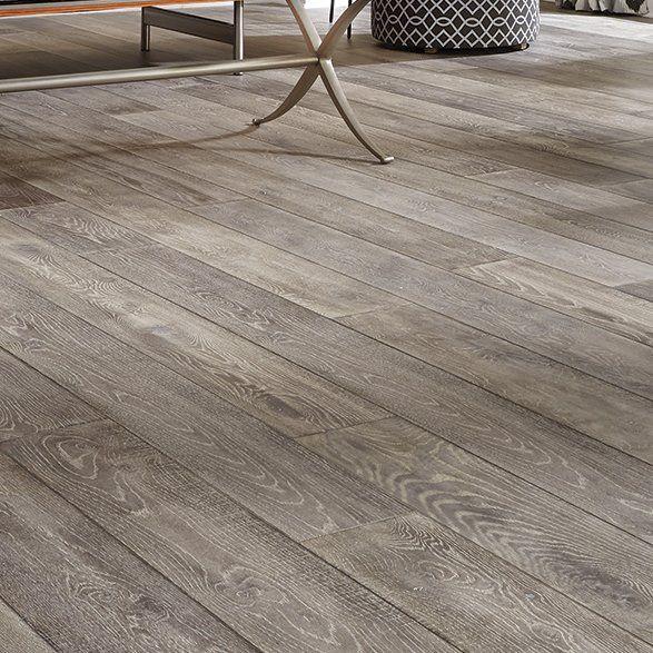 "Mannington Antigua 7"" White Oak Hardwood Flooring in Silver & Reviews | Wayfair"