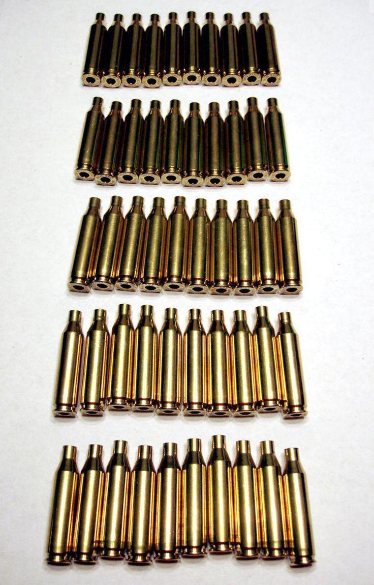 Winchester Brand Reloading Brass for .243 Winchester 50 Cases Unprimed Used
