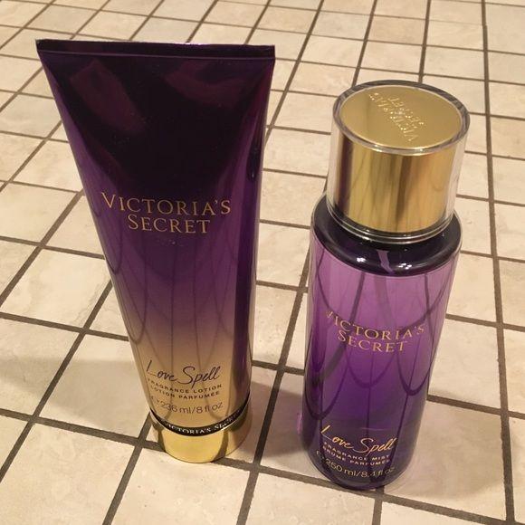 Victorias Secret Love Spell Set Lotion (8oz) & Perfume (8.4oz) - Valued at $18 each Victoria's Secret Makeup