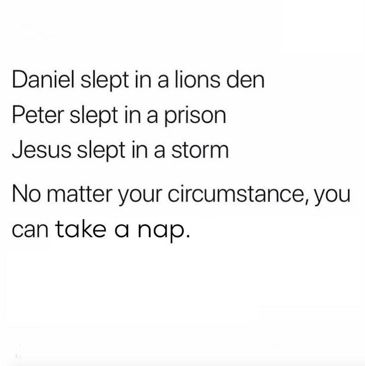 No matter your circumstances, you can take a nap