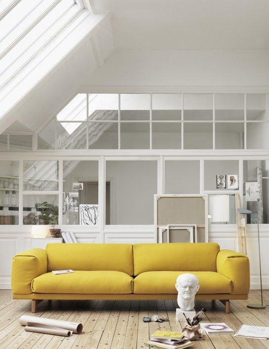 Love This Yellow Sofa, Wish I Was Brave Enough To Commit To Such An Awesome  Color Muuto   Rest By Anderssen U0026 Voll