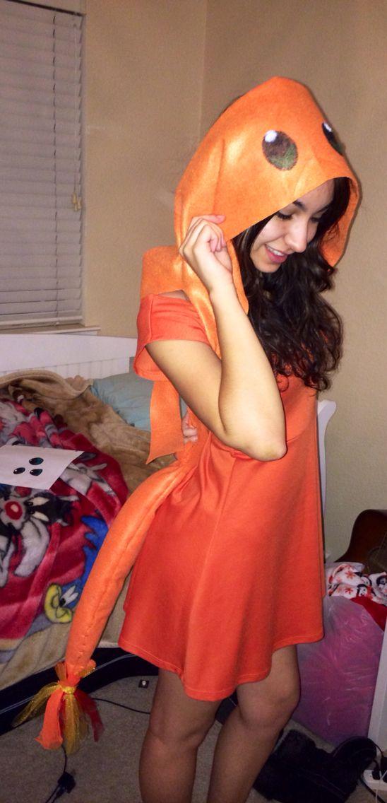 Charmander costume DIY
