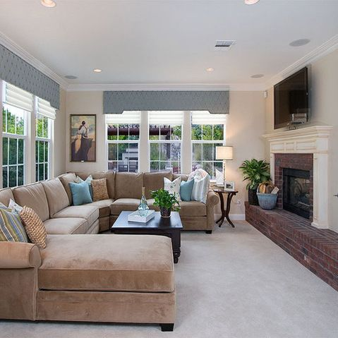 Sectional Living Room Design Interior Ideas Traditional Neutral With Taupe Pictures Remodel And Decor Page 28 Basement Family
