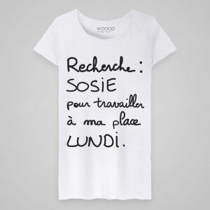 T-shirt - Recherche sosie blanc 100% coton biologique