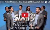 "Six13 – Watch Me (Spin / Drey-Drey) – 2015 Chanukah Jam Ooooh goodie! Another Jewish a cappella group – this one called Six13, singing a ""Chanukah Jam"" set to the tunes of Silentó's ""Watch Me (Whip/Nae Nae)"" mixed with Drake's ""Hotline Bling""! Now this is a funky way to celebrate the Festival of Lights!…"