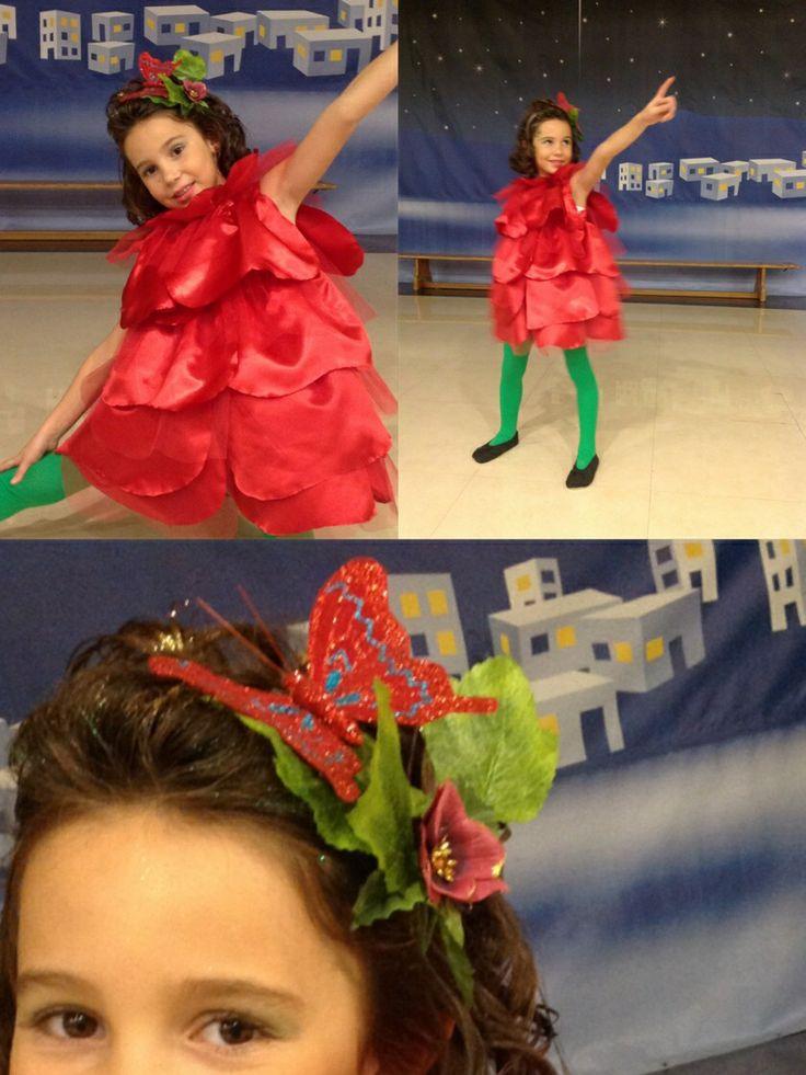 Rose costume. Flower costume.