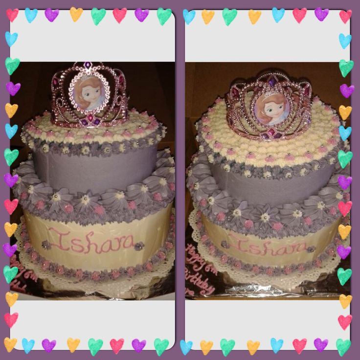 Sofia Princess birthday cake! Created by Spurge...follow us on Facebook  https://www.facebook.com/pages/Splurge-Treat-Yourself/1471854443062956