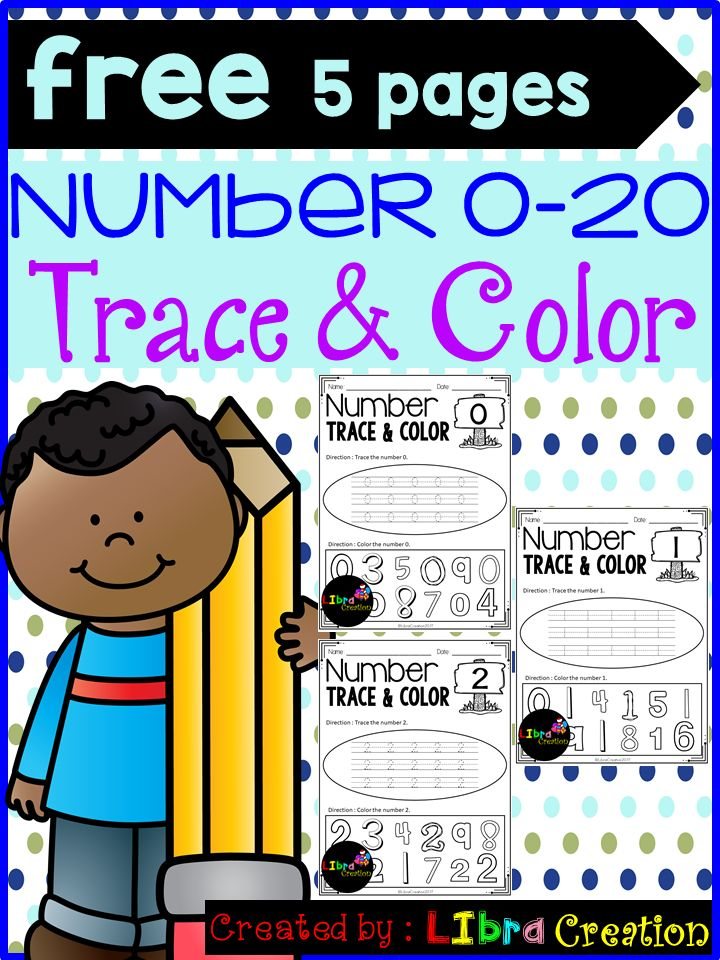 Free 5 Pages!!!  This product will teach your little learner to learn the numbers. They will learn how to trace the number and color the right number.  Preschool, Preschool Worksheets, Kindergarten, Kindergarten Worksheets, Number, Number Writing Practice, Number Trace & Color, Number Color & Sort, Number Count & Match, Number Activities, Number Worksheet.