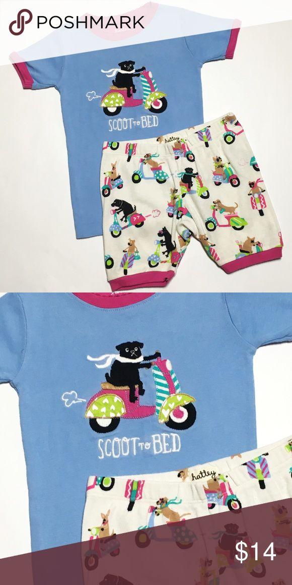 Hatley Scoot to Bed Puppy Dog Pajamas Size 4 years 100% cotton Hatley Pajamas Pajama Sets