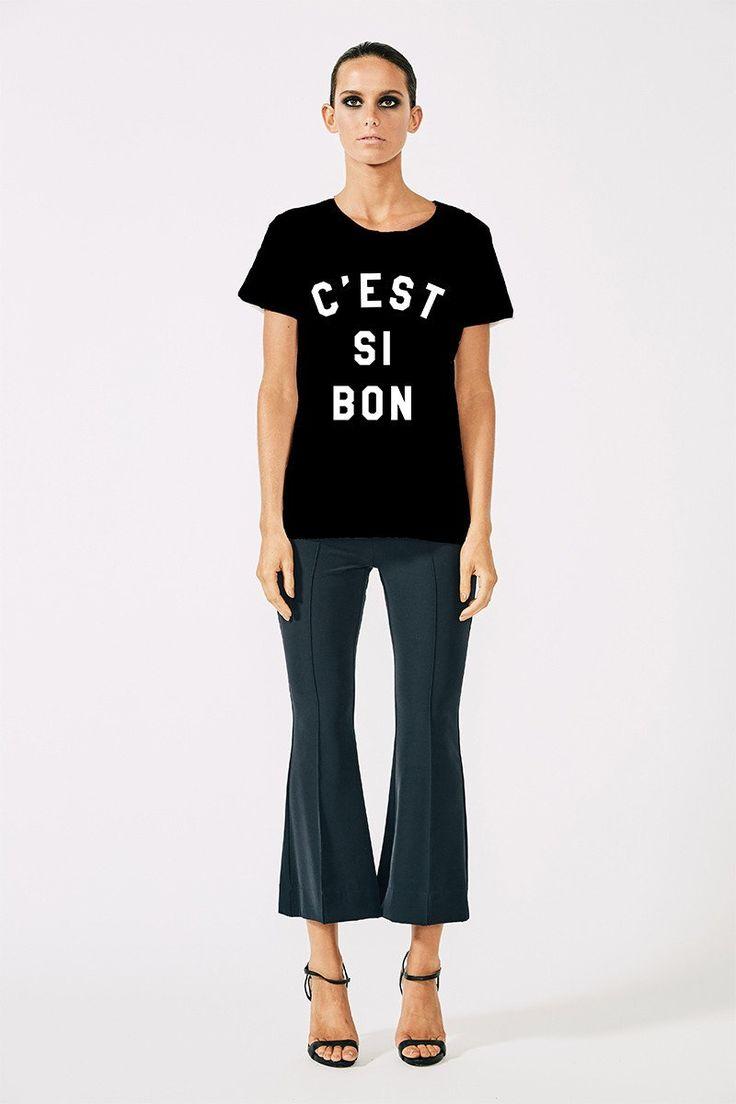 Shona Joy - C'est Si Bon Tee Black One Size Large Left
