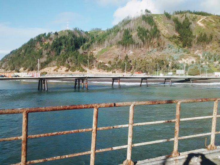 Puerto de Magallinis, Constitución Chile. Tomada desde el muelle pesquero.
