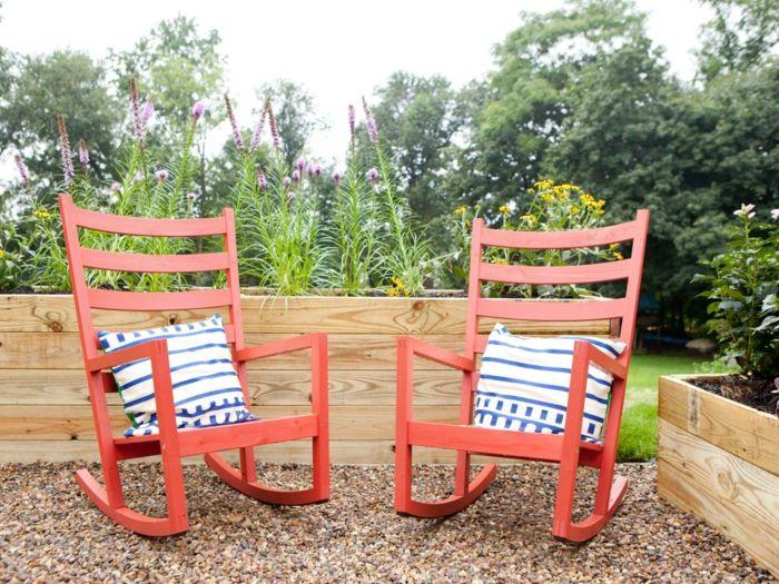 Gartenmöbel Garten Gestalten Coole Schaukelstühle Rötlich Mehr