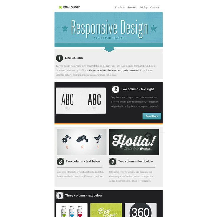 Check out the Emailology Free Responsive Email Template if you are looking for a trendy and modern email template for your next newsletter. This fully responsive and customizable template can highlight new products or services, or just showcase your latest company updates!