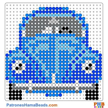 Volkswagen Sedán plantilla hama bead. Descarga una amplia gama de patrones en formato PDF en www.patroneshamabeads.com