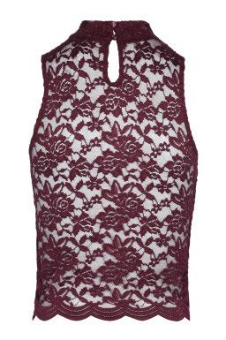 Red Lace Top TALLY WEiJL