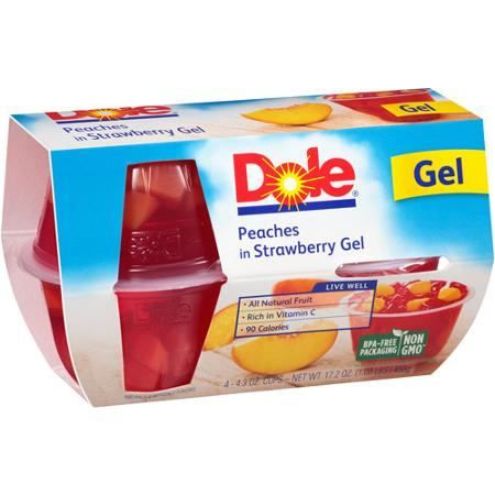 New! $1.00 off DOLE Fruit Cups Fruit in Gel Printable Coupon