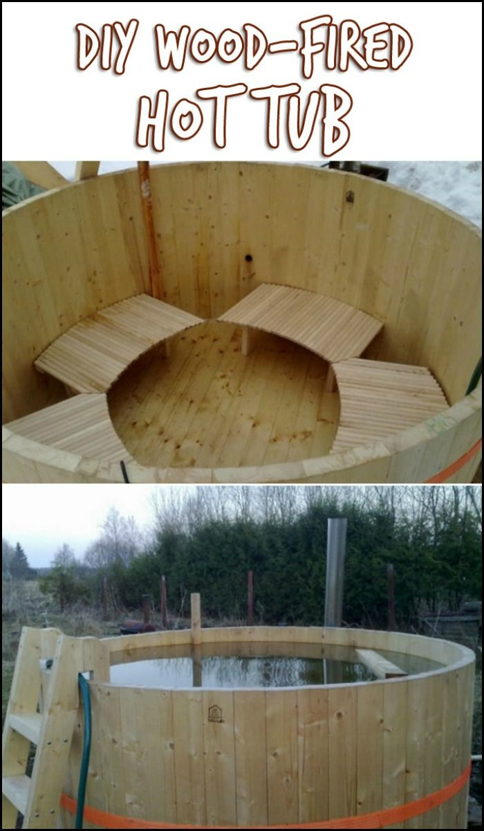 How cool is this - a DIY wood-fired hot tub! Is this going to be your next DIY challenge?